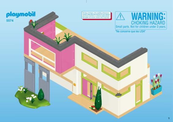 Notice de montage - Playmobil 5574 : Maison moderne - Abapri France