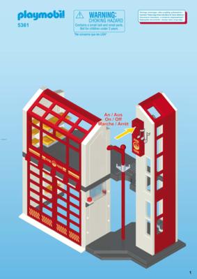 notice de montage playmobil 5361 caserne de pompiers. Black Bedroom Furniture Sets. Home Design Ideas